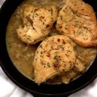 Skillet Whiskey Chicken with Herbs