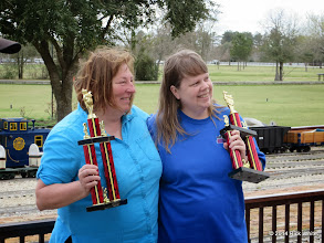 Photo: First place JoAnn Maitland with second place Marianne Nevil           HALS Chili Fest Meet 2014-0301 RPW