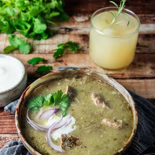 Slow Cooker Pork Chile Verde.