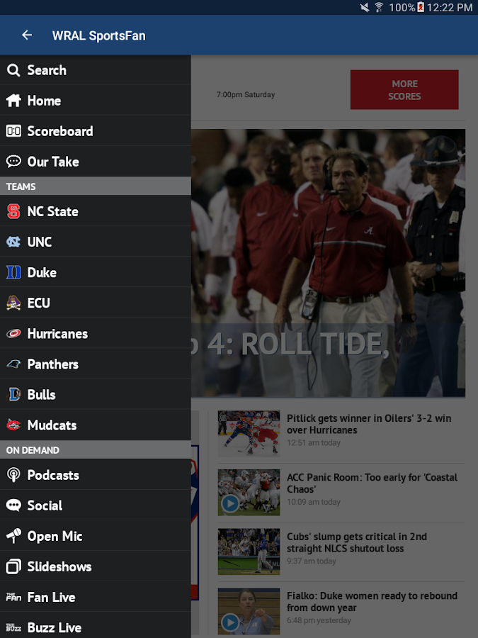 WRAL Sports Fan- screenshot