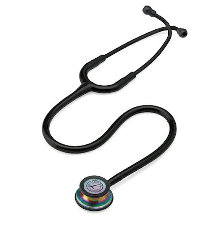 Littmann Classic III Stethoscope Rainbow-Finish Chestpiece W- Black Tube