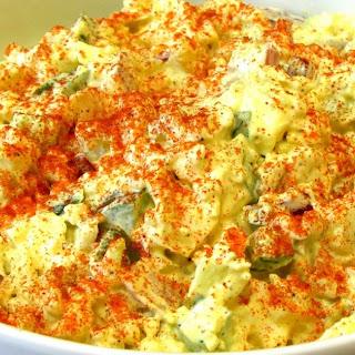 "Classic Potato Salad - ""NO Potato"" Potato Salad - (Low Carb Recipe)."