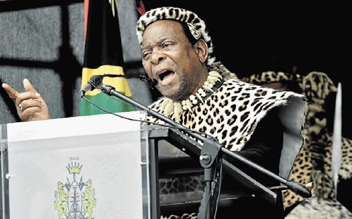 Zulu King Goodwill Zwelithini. File picture: SUNDAY TIMES/TEBOGO LETSIE