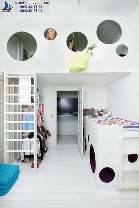 thiết kế phòng ngủ cho bé độc đáo lạ mắt
