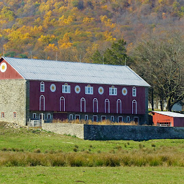 Red Barn Near Kempton, PA by Jerry Hoffman - Buildings & Architecture Other Exteriors (  )