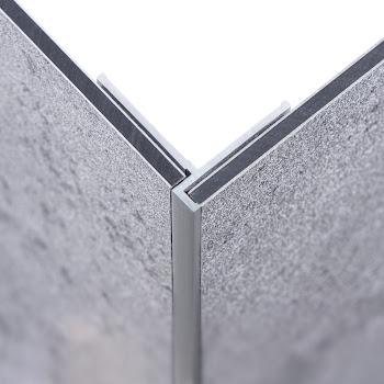 DecoDesign - Zubehör Profil - Eckverbinder, flächenbündig - Alu-Natur (01), Länge 2550 mm