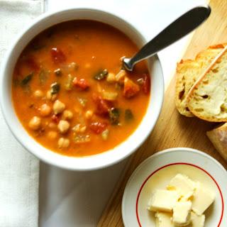 Spanish Chickpea & Chorizo Soup.