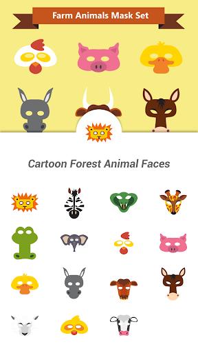 Cartoon Forest Animal Faces
