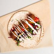Quinoa & Beetroot Falafel Wrap
