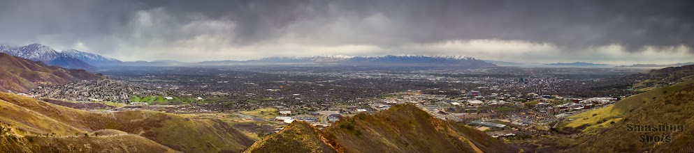 """Photo: From """"The Living Room"""" above Salt Lake City."""