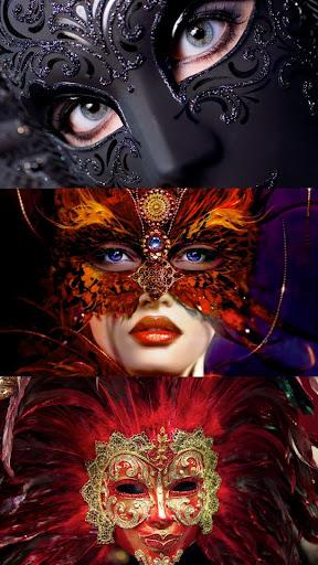 Venice masks. Live wallpaper