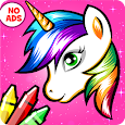 Unicorn Coloring Book - Games for Girls (No Ads)🎨 icon