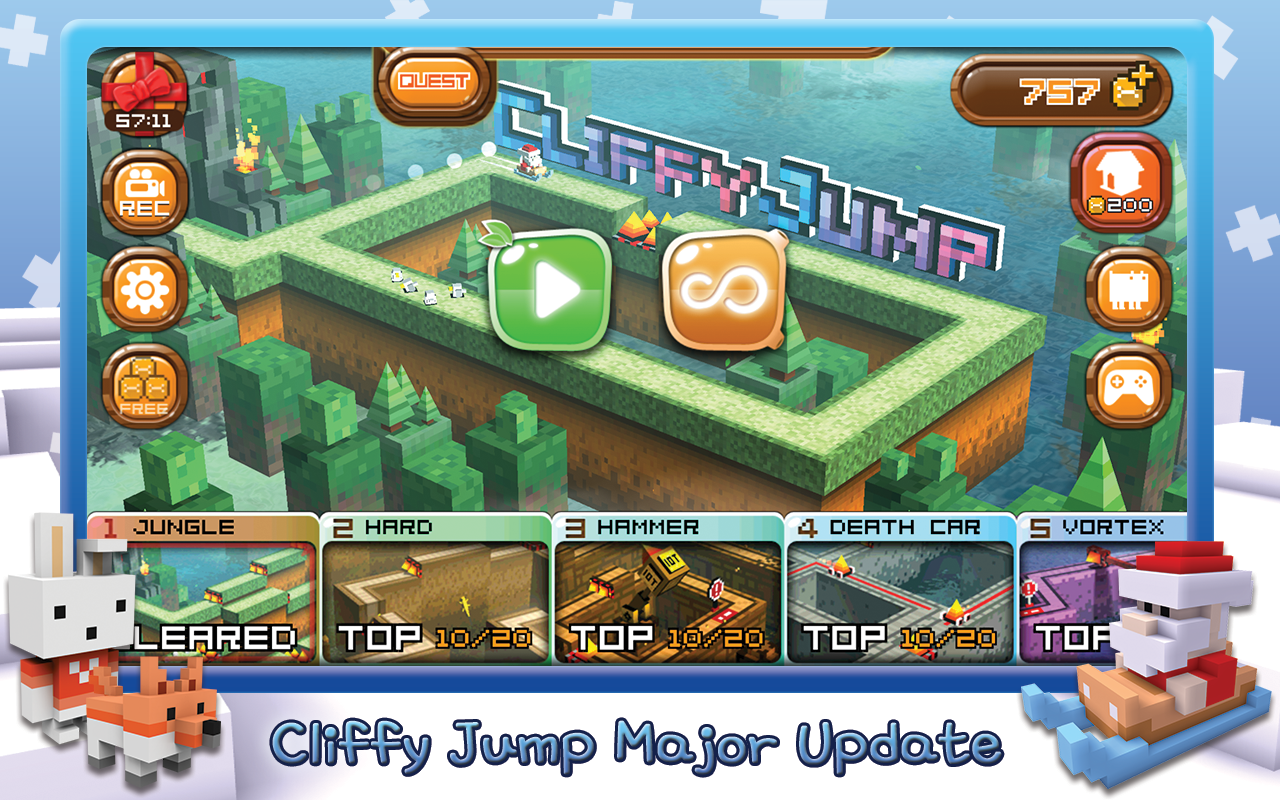 Cliffy Jump : Heroes never die- screenshot