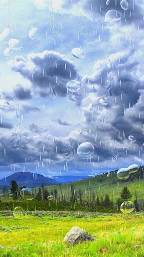 草原や雨。