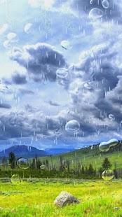 Louky a Rain Live Wallpaper - náhled