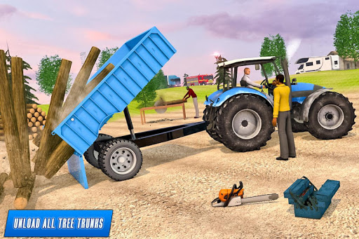 Drive Tractor trolley Offroad Cargo- Free 3D Games android2mod screenshots 2