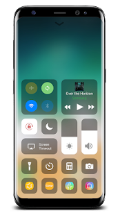 Control Center IOS 11 - náhled