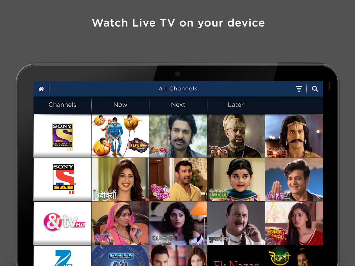 Tata Sky Mobile – For Tablets- screenshot