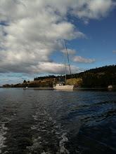 Photo: Nahani at anchor in Cygnet
