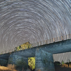 Trail of Dang by Himanshu Jethva - Landscapes Starscapes ( dang, indian, cosmic, astronomy, startrail, astro, night photography, stars, trail, dark, night, astrophotography, black )