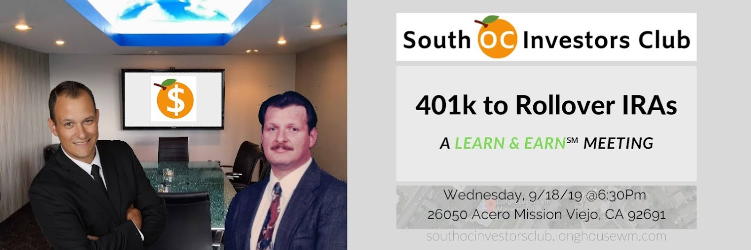 🍊South OC Investors Club - September 18 Meeting
