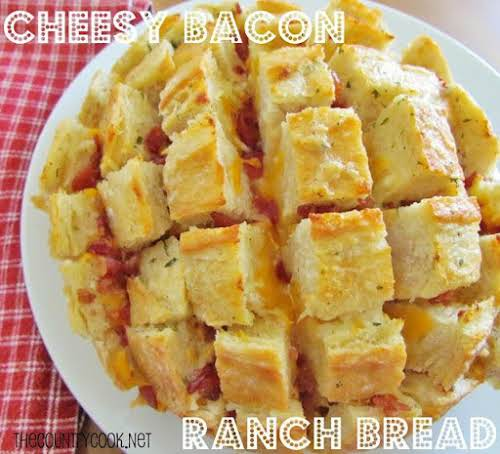 """Cheesy Bacon Ranch Bread """"Oh my goooooddnessssssss!!!!! This was the best:) I..."""