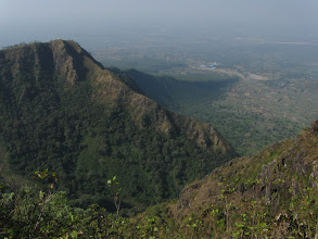 Photo: The crater and the village where there is a trailhead