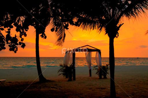 Beautiful Beach Sunset By Melissa Hahn