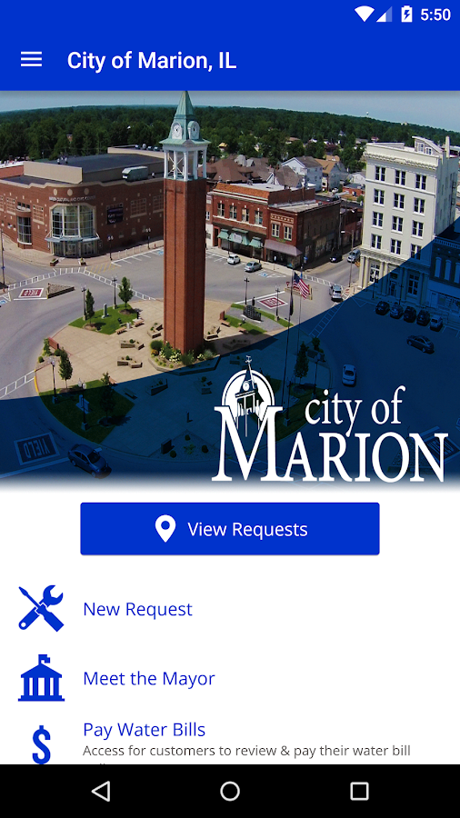 City of Marion, IL- screenshot