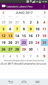 Calendario 2017 Perú AdFree screenshot 3