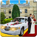 Luxury Wedding Bridal Car Icon