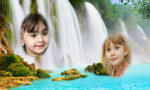 Waterfall Dual Photo Frames