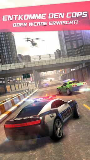 Highway Getaway Polizei Rennen APK MOD screenshots 2