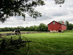 Photo: Field and barn at Carriage Hill Metropark in Dayton, Ohio.