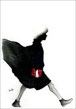 Photo: 縁縁年末年始コラボ展出品作品 WALK F8 paper, watercolor