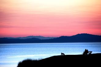 Photo: Sunset at Beaconhill Park, Victoria, BC