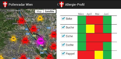 (APK) تحميل لالروبوت / PC Pollenradar Wien تطبيقات screenshot