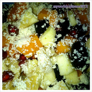 Fruit Salad With White Chocolate