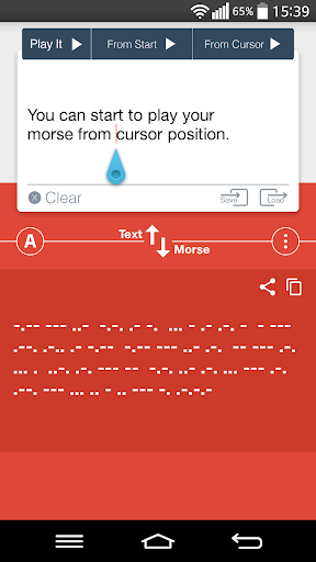 how to translate morse code to english