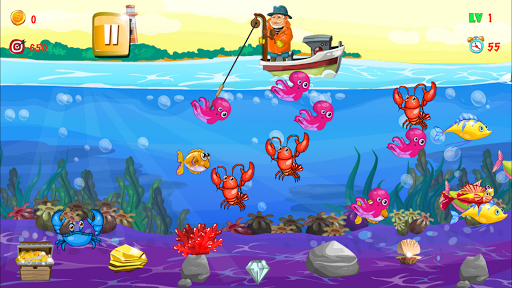 Gold miner, Fishing, gold rush apkmr screenshots 13