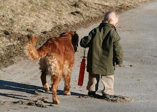 Photo: Puma geht Fuß mit Lukas - 2008