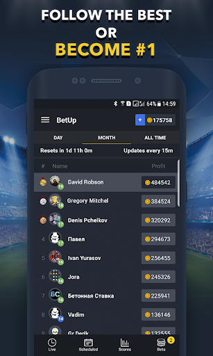 Sports Betting Game - BETUP 1.16 screenshots 4