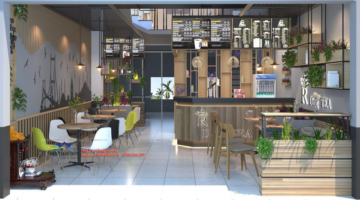 thiết kế quán trà sữa 3