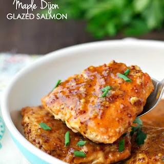4-Ingredient Maple Glazed Salmon.