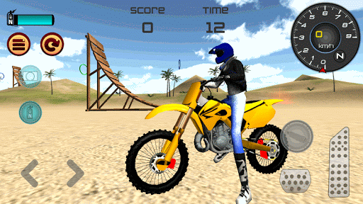 Motocross Beach Jumping 3D Screenshot