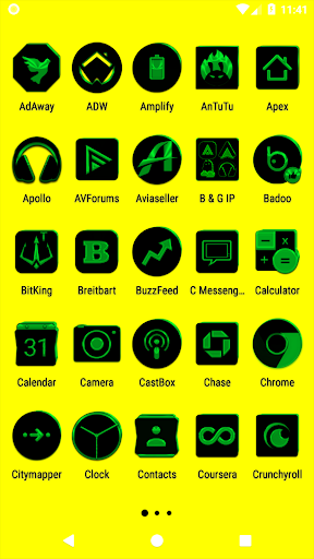 black and green icon pack ✨free✨ screenshot 2