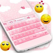 Pink Clouds Keyboard Theme