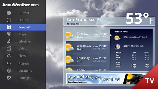 AccuWeather for Google TV screenshot 2