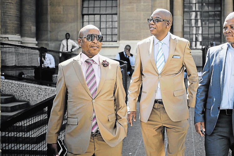 Businessman Kenny Kunene, left, and Sunday Independent editor Steven Motale. Picture: ALAISTER RUSSELL/THE TIMES