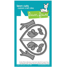 Lawn Fawn Dies - Center Picture Window Card Heart Add-On